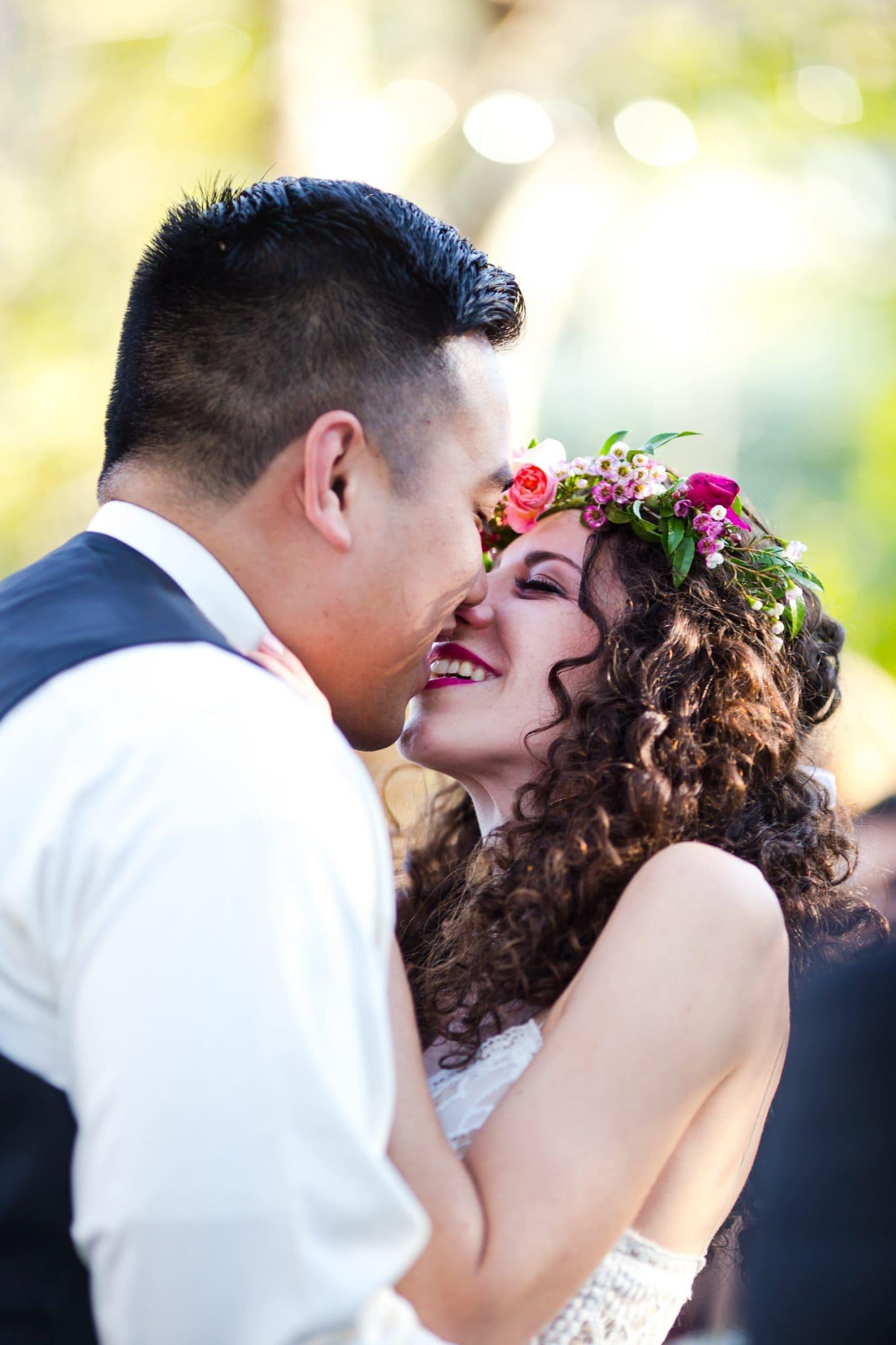 first kiss avila wedding