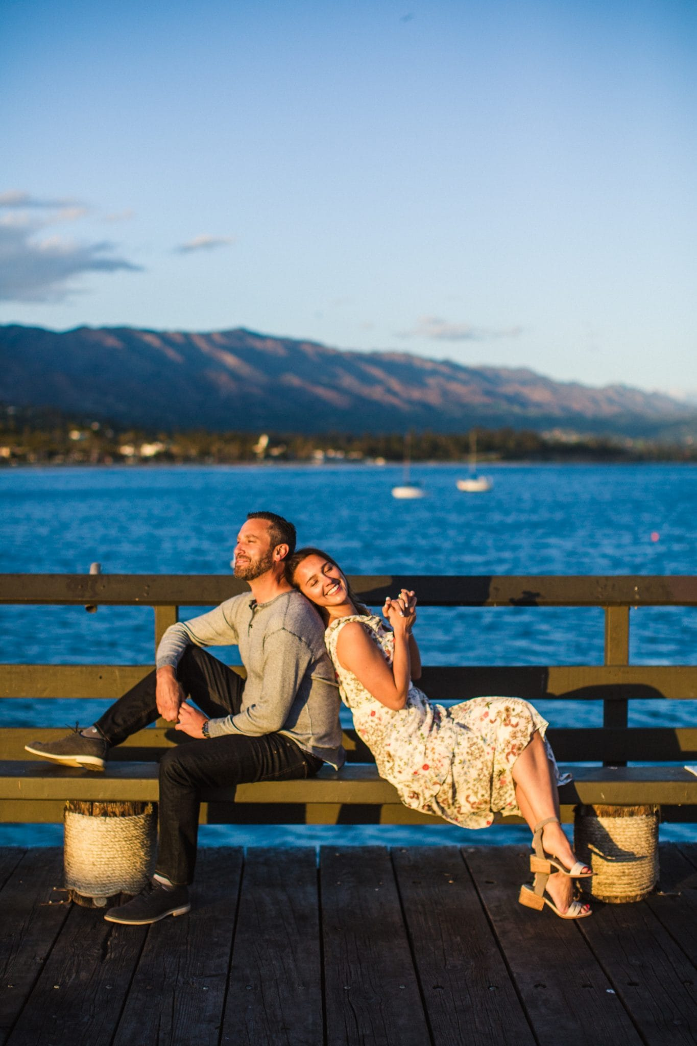 Santa Barbara pier engagement photo
