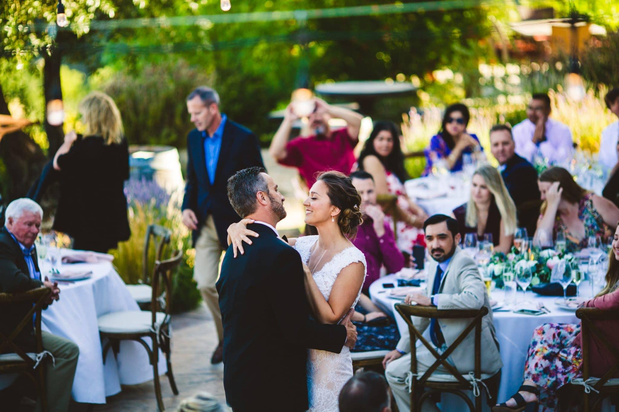 Croad Vineyard Wedding first dance